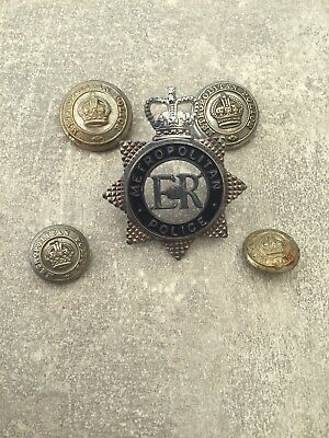 £19.95 • Buy Obsolete Kings Crown Metropolitan Buttons And Old Style Q/C Cap Badge