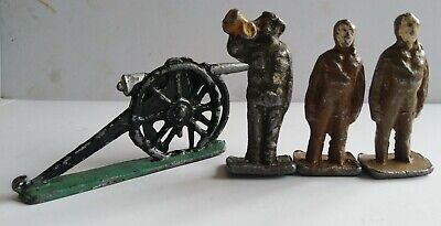 £5 • Buy Early Lead Soldiers (Johillco?) And Cannon Ww1