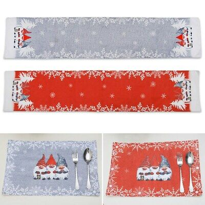 AU19.04 • Buy Christmas Table Runner Tablecloth Cover Placemat Festival Dining Table Decor