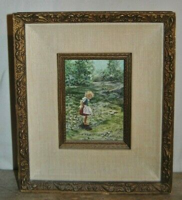 $ CDN786.78 • Buy Original PHIL PRENTICE  Painting Of Child In Meadow Beautifully Framed  & Signed