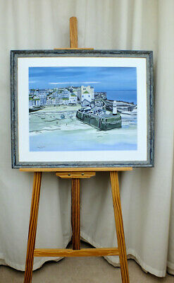 £115 • Buy Framed Painting  St. Ives  Cornwall - A Refocus On St. Ives - Acrylic On Board
