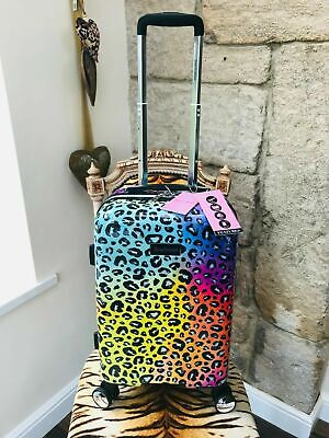 £99.99 • Buy New Juicy Couture Leopard Animal Print Small Spinner Wheel Suitcase R.r.p. $2400