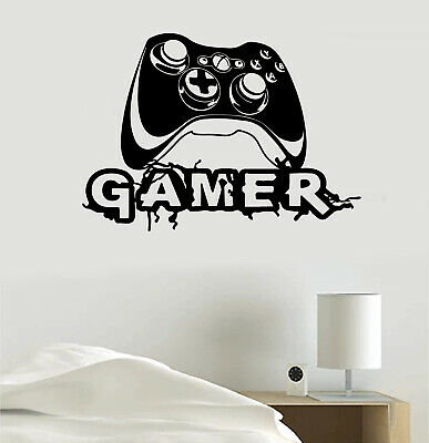 $ CDN23.04 • Buy Video Game Joystick Gaming Personalized Gamer Tag Vinyl Sticker Decal Room Decor
