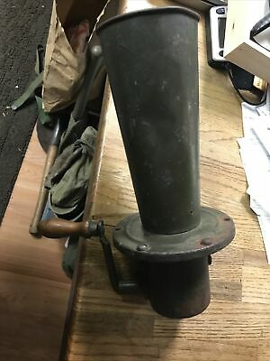 $85 • Buy WWI Gas Alarm Trench Warning Horn Works Loud U.s. Military Army Vintage