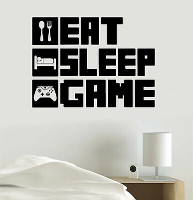 $ CDN24.34 • Buy Eat Sleep Game Video Game Gaming Personalized Gamer Tag Vinyl Sticker Decal