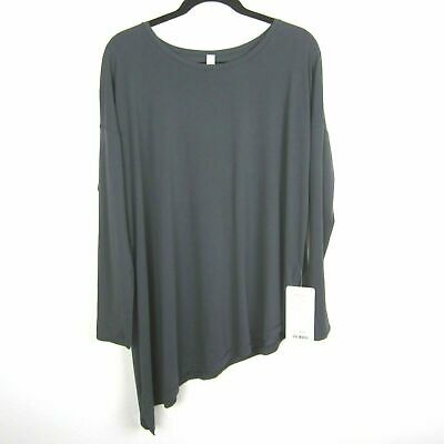 $ CDN61.68 • Buy New $64 Lululemon To The Point LS Womens Top Size 12 Gray Long Sleeve Tie Pima