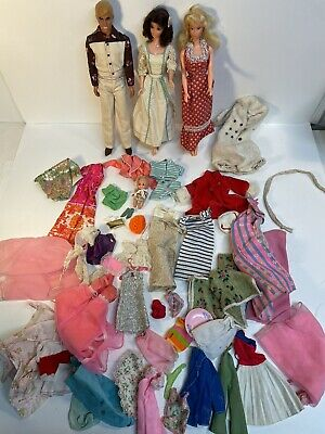 $ CDN31.47 • Buy Vintage 60s & 70s Barbie And Ken Doll Clothes & Accessories Free Moving Barbie
