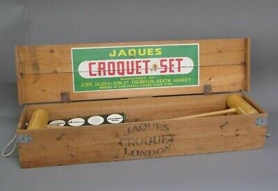 £299 • Buy Jaques Of London Croquet Set Four Player Complete In Pine Box