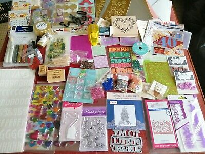 £19.99 • Buy Cardmaking Craft Clearout Bundle. Punches,stamps,cutting Dies,peel Offs Job Lot