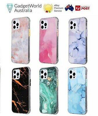 AU12.99 • Buy IPhone 12 ProMax Mini 11 Promax  Iphone 7 8 SE X XR Marble Shockproof Cover Case