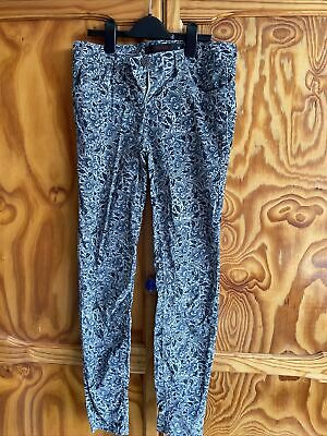 £1.50 • Buy Next Skinny Cord Jeans Blue Floral Size 8L