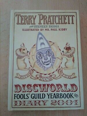 £8.50 • Buy Terry Pratchett/Stephen Briggs Fools Guild Discworld Diary/Yearbook 2001 SIGNED!