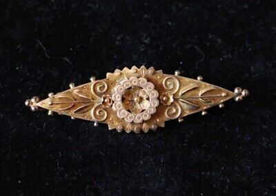 £38 • Buy Victorian 9 Ct Gold Brooch With Floral Design 1892