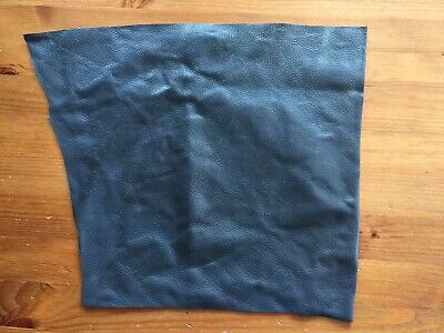 £3 • Buy Reclaimed Recycled Blue Leather Remnant 26cm Minimum X 30cm - 74 Grams