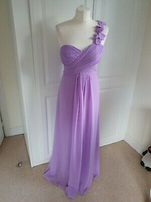£8.99 • Buy Ladies Lilac EVER PRETTY One Shoulder MAXI GOWN SIZE 10-12 SMALL FIT