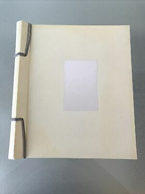 £7.99 • Buy Vintage Cream Silver Hearts Wedding Photo Album 18 Pages 36 Sides Self Adhesive