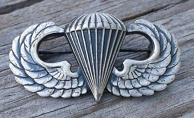 $49 • Buy WWII Sterling Silver U.S. Military Paratrooper Airborne Jump Wings - Outstanding