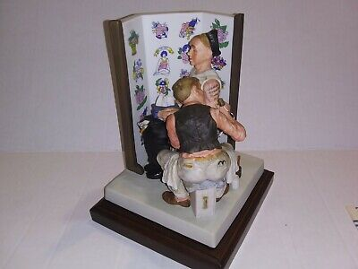 """$ CDN250.51 • Buy Norman Rockwell Figurine: The Tattoo Artist By Gorham 7"""" Tall  Limited Edition"""