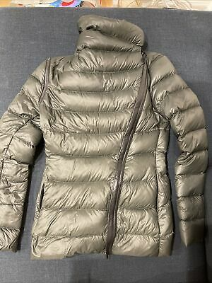 $225 • Buy Mackage Qeren Leather Trim Jacket Puffer Size XS Army Greeen