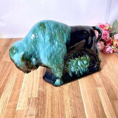 $ CDN60.59 • Buy Blue Mountain Pottery Large Bison 10x7 Inches Canadian Filled In Legs