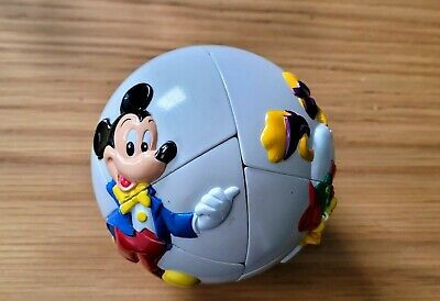 £9 • Buy Vintage Disney Mickey Mouse & Donald Duck Puzzle Ball Cube Game From Idc Rubiks