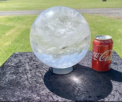 £949.99 • Buy Huge Clear Quartz Crystal Ball Sphere +Stand Fortune Telling Psychic Scrying 9KG