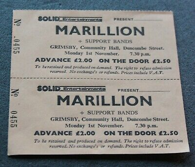£4.99 • Buy Marillion Fish Original UNSOLD  Early 1982 Grimsby Rock Concert  Gig Tour Ticket
