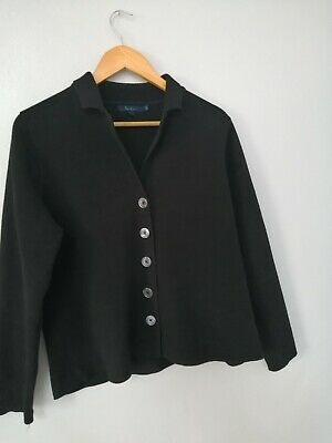 £17.99 • Buy Boden Black Fleece Cardigan Jacket Button Fastering Casual Size 16