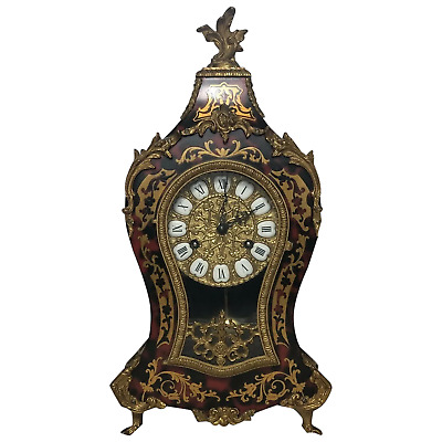 £1295 • Buy Large Fine Louis XVI Style Gilt Ormolu Marquetry Boulle Mantle 8 Day Clock