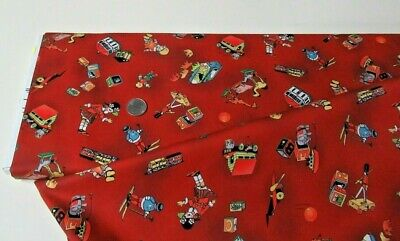$10.77 • Buy Michael Miller Quilt-craft Fabric TOY STORY Red 2 Yds (dcx-9452)Vintage Treasure