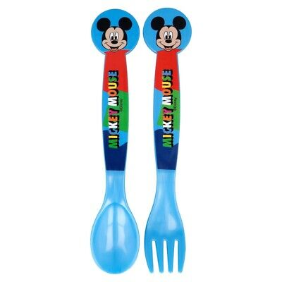 £2.87 • Buy 2 Piece CUTLERY SET MICKEY Mouse COOL SUMMER Plastic Fork And Spoon Set