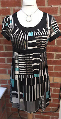 AU11.19 • Buy Ladies New Look Size 14 Black Grey Dress Summer Holiday Excellent Condition L6