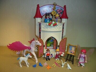 £10.49 • Buy PLAYMOBIL ROYAL FAMILY With Palace Carry Case (pegasus Horse,unicorn,king,Queen)