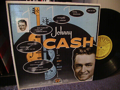 £5.80 • Buy Johnny Cash With His Hot Blue Guitar LP SUN 1220 COUNTRY ROCKABILLY Vinyl 1957
