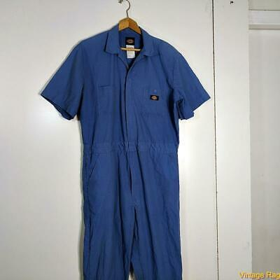 $29.99 • Buy DICKIES Workwear S/S Cotton Work Coveralls Jumpsuit Mens Size L Large Blue