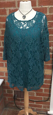 AU13.06 • Buy BNWT Cotton Traders Size 12-14 Turquoise Green Lace Dress Summer Wedding L4