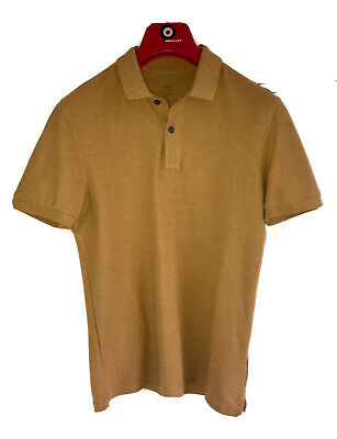 £1.99 • Buy NEW M&S Pure Cotton Slim Fit Summer Pique Polo Shirt XS Ochre Marks & Spencer's