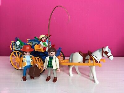£6.50 • Buy Playmobil 3117 Horse-Drawn Carriage With Figures