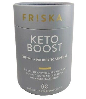 $12.50 • Buy FRISKA Keto Boost Enzymes + Probiotic Support 30 Capsules 2/22 Brand New!