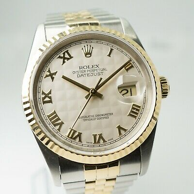 $ CDN8182.52 • Buy 🔥1995 Rolex Datejust Ref. 16233 - 36mm - Box & Papers - White Pyramid Dial