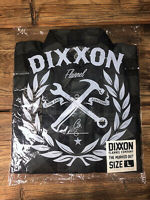 $250 • Buy DIXXON FLANNEL - THE MURKED OUT - SIZE: Large Black - [SOLD OUT]