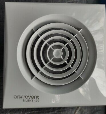 £20 • Buy Envirovent  SILENT-100T Timer Extractor Fan For Bathroom Or Toilet
