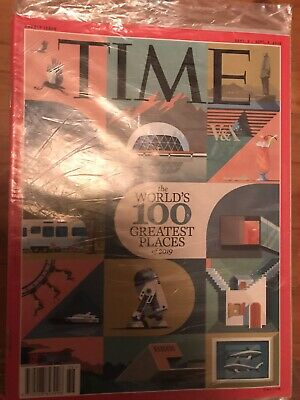 £42.90 • Buy New Sealed TIME MAGAZINE 2019 Double: The Worlds 100 Greatest Places Destination