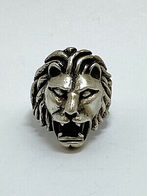 £14.41 • Buy Vintage Heavy Sterling Silver Lion Head Ring Size 8.5