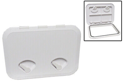 £26.49 • Buy Boat Deck Inspection Hatch 315MM X 440MM - Double Lock Opening White Rectangular