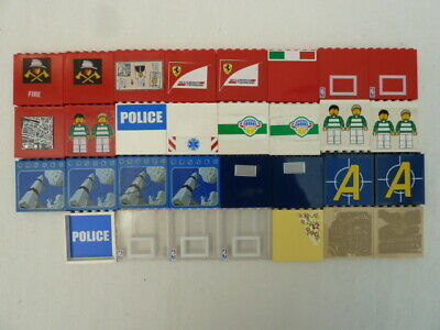 £6 • Buy LEGO 31 WALL PANELS 1x6x5 WITH DECALS TRANSFERS