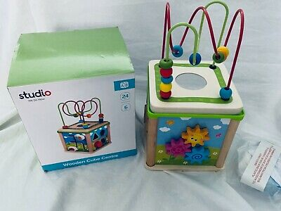 £15.99 • Buy BNWT Tabletop Wooden Toy Baby Activity Cube Centre Shape Sorter Child Bead Maze