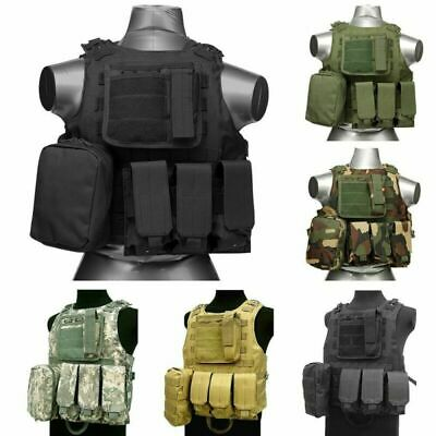 $23.99 • Buy 1x Tactical Military SWAT Airsoft Molle Combat Assault Plate Carrier Vest Gear