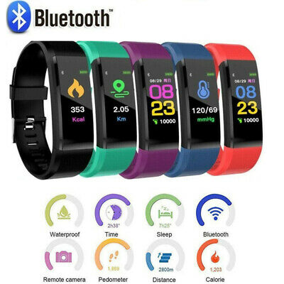 AU11.99 • Buy Sports Fitness Tracker Watch Heart Rate Blood Pleasure Activity Monitor Fitbit