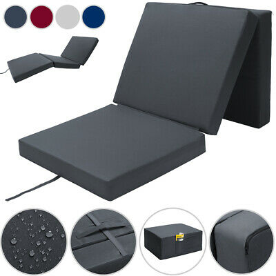 £64.95 • Buy Foldable Mattress Guest Bed Cover Portable Sleeping Futon Spare Space Saving New